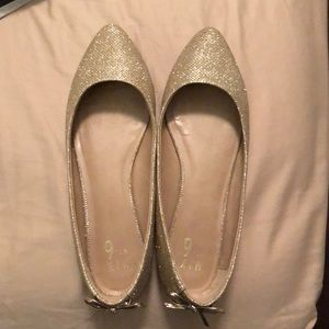 Rose Gold Pointed Flats